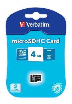 Verbatim 4GB microSD Card Class 4
