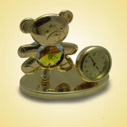 Archies 24K Gold Plated Teddy Clock Show Piece (ARCH-352)