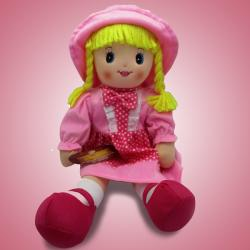 Archies Realstic Soft Pink Smart Girl Doll For Kids - (ARCH-254a)