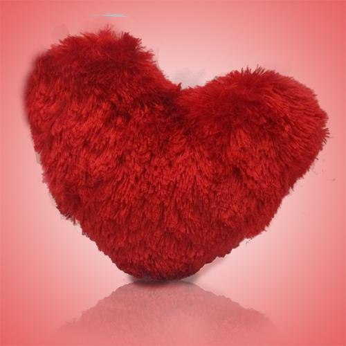 Archies Silky Red Heart Cushion Soft Toy - (ARCH-257)