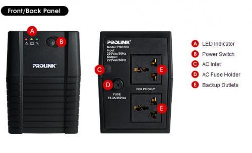 Prolink PRO700SFC EnerHome UPS 650VA SuperFastCh