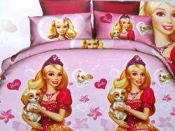 Barbie Printed Kid's Bedsheet - (GW-250)