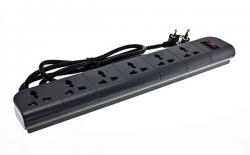 Belkin 6-Outlet Surge Protector 2 Meter Cord (F9E600zb2M-GRY)