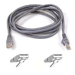 Belkin (A3L980b03-S) Cable Cat6 UTP RJ45M/M 3 Gry Patch Snagless