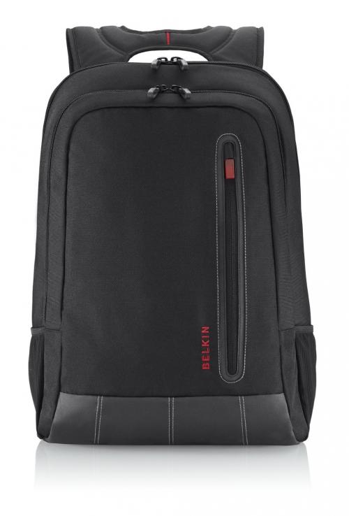 "Belkin Case BPK PU-LTHR Poly Laptop 16"" Swift Black/Red (F8N507qeC00)"