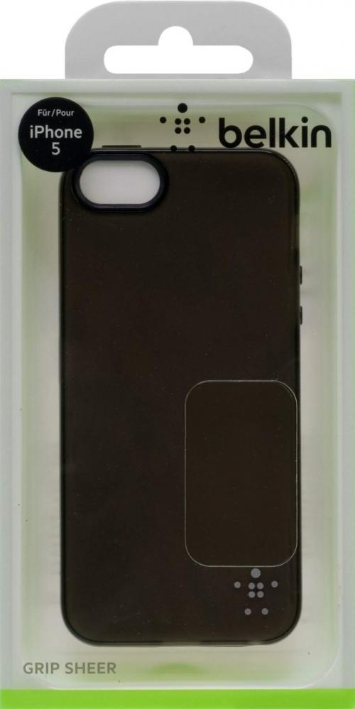 Belkin Case TPU iPhone5 Translucent GRP VUE BLK Top (F8W093qeC00)