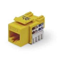 Belkin CAT6 Keystone Jack, Yellow, 25-Pack