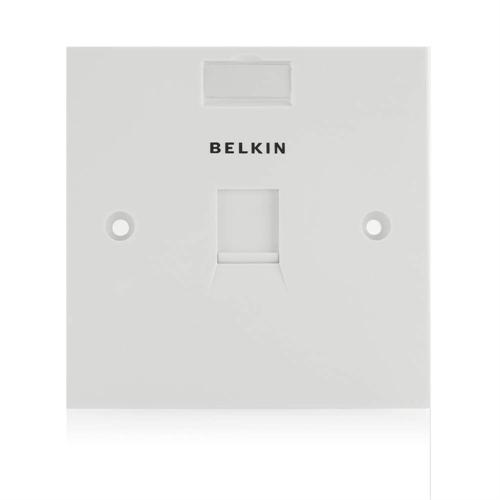 Belkin Faceplate, Square, 1 Port, Single Gang, White (F4E128-1-WHT)