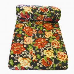 Black Floral Summer Blanket - (GW-BK-008)