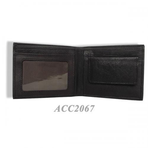 Black Leather Men's Wallet ACC2067