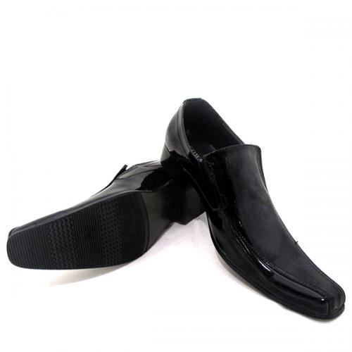 Black Stylish Formal Cowboy Shoes For Men - (SB-0007)