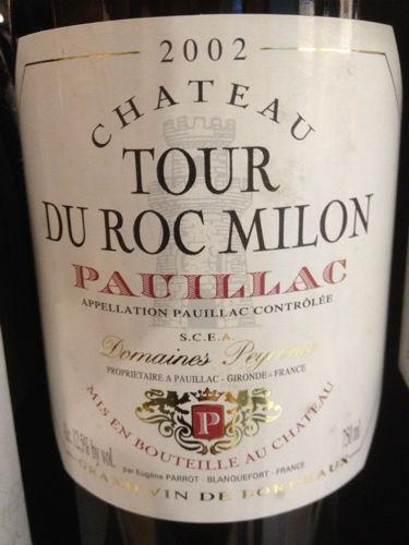 Chateau Tour Du Roc Milon Pauillac 2002 - (GL-026)
