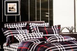Check Print Bedsheet with Pillow Cover - (GW-BPC-036)