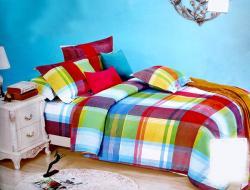 Colorful Check Cotton Beddings (GW-300)