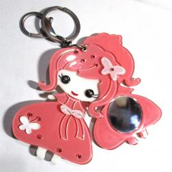 Cute Doll Key Ring With MIrror - (TP-109)