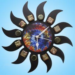 Designer Sun Wall Clock