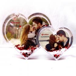 Dual Heart Shape Photo Frame - (ARCH-442)