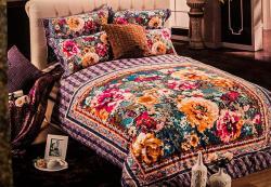 Flower Printed Floral Room Bedding (GW-024)