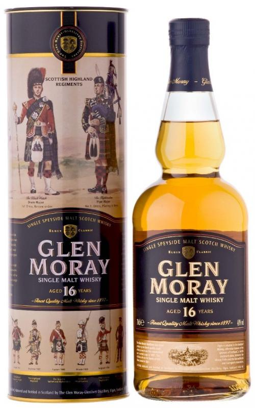 Glen Moray 16 Year Old Scotch Whisky (700mL)
