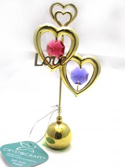 Gold Plated Love Heart Show Piece - (ARCH-358)