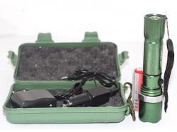 Green US Army Torch with Box and Battery (TP-016)
