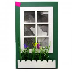 Green Window Designed Small Photo Frame - (ARCH-432)