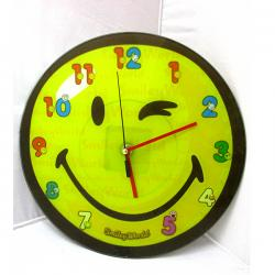 Green Wink Smiley Wall Clock - (ARCH-418)