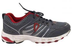 Grey & Red Sports Shoes - (SB-0130)