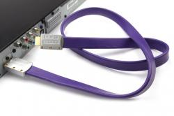 HDMITM Connector To HDMITM Connnector High Speed HDMITM Cable With Ethernet Metal Flat 2.5m - (OS-021)