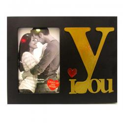 I LOVE YOU Black LED Photo Frame - (ARCH-437a)