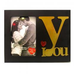 I LOVE YOU Black LED Photo Frame - (ARCH-437a)