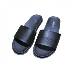 New Mens Blue Black Slippers