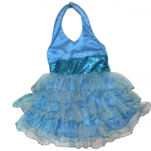 Blue Frock For Kids - (JU-020)