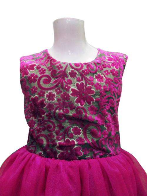Pink Baby Frock - (JU-018)