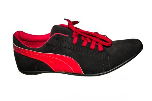 Puma Black And Red Shoe (TK-FMS-002)