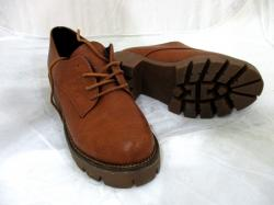 Women Leather Brown Shoes Lace-up