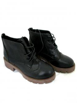 Ladies Fashionable Winter Ankle Short Shoes Lace-up Boots