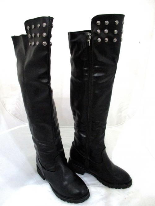 New Brand Womens Black Boots Genuine Leather Full Length Zip Winter Boots