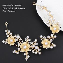 Pearl & Diamante Hair & Juda Accessory