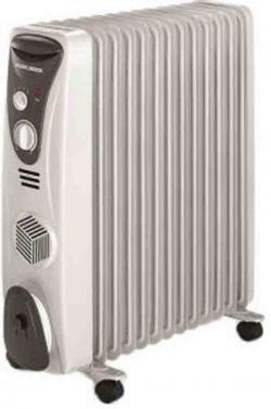 Black & Decker Fan Oil Heaters (OR11FD) - 2200W