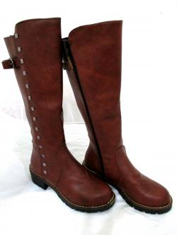 Ladies Fashion Winter Long Riding Brown Boots