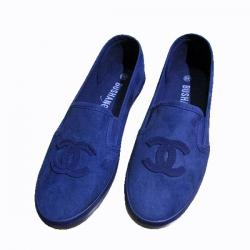 Ladies' Navy Blue Loafer Shoes