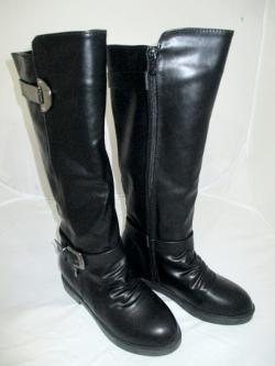 New Brand Black Genuine Leather Winter Long Riding Boots