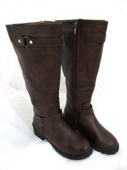 New Brand D.Brown Genuine Leather Full Length Zip Winter Boots -