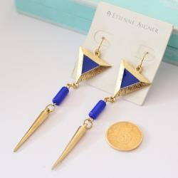 Tassel Blue Earring