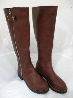 Women Faux Leather Knee High Ladies Long Winter Flat Riding Boots