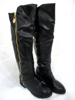 New Brand Womens Boots Genuine Leather Full Length Zip Winter