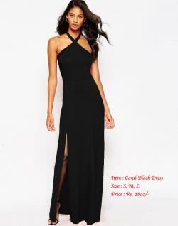 Coral Black Gown