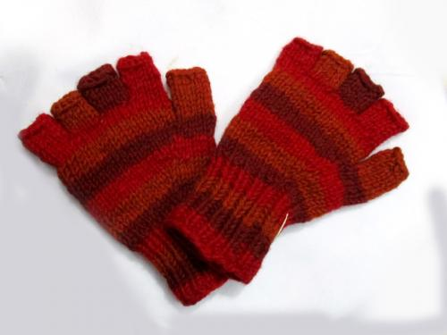 Hot Men Women Woolen Half Fingerless Gloves