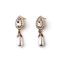 Pearl & diamante Earring